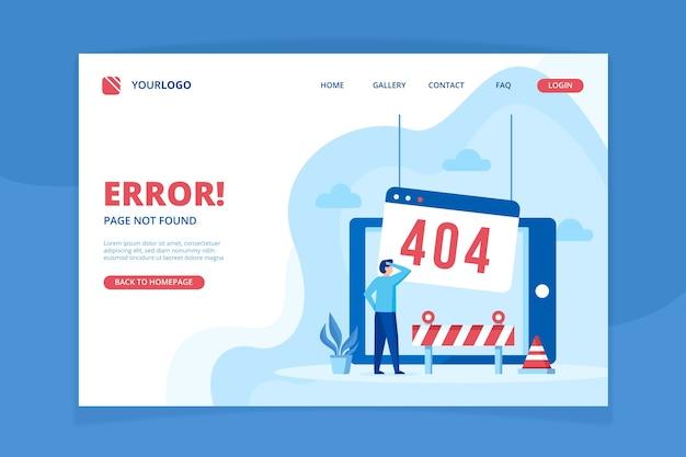Error 404 plantilla de página de destino