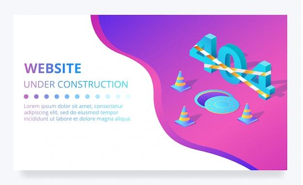 Error 404 sitio web en construcción página