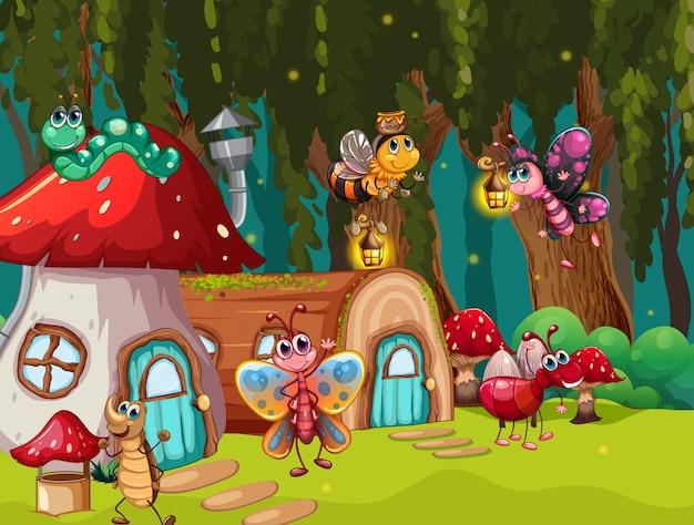 Error de fantasía en la ilustración de la escena