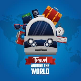 Es hora de viajar por el mundo