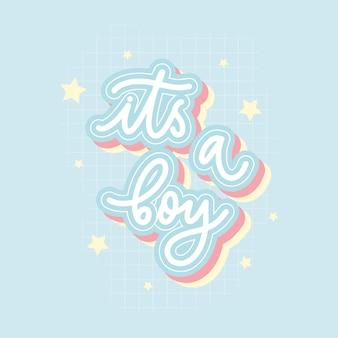 Es una inscripción de vector de letras de mano de niño para impresión, camiseta y otros.
