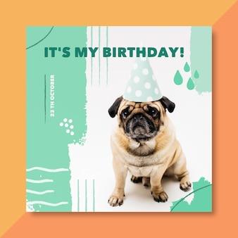 Es mi tarjeta de cumpleaños con perro