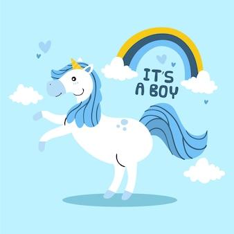 Es un niño unicornio