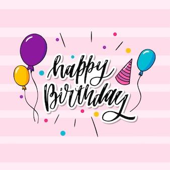 Esta es una tipografía de feliz cumpleaños que se puede aplicar al papel tapiz, a la tarjeta, a la tarjeta de cumpleaños también.