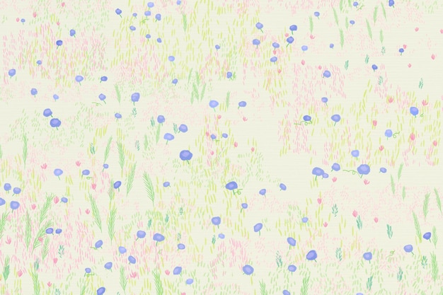 Esbozado campo de flores fondo vista de pájaro