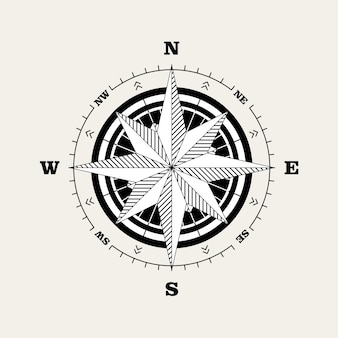 Escala de navegación de la rosa de los vientos (rosa de los vientos)