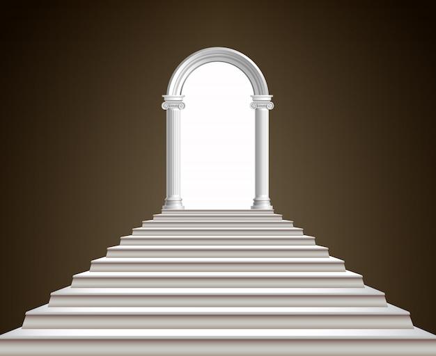 Escalera y arco