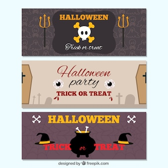 Escalofriantes banners de halloween