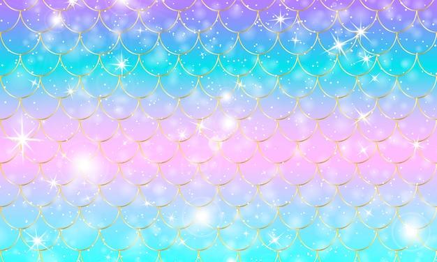 Escamas de sirena. pez squama. patrón de arcoiris