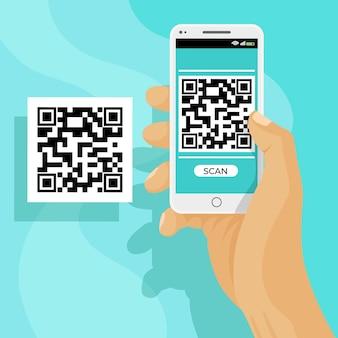 Escaneo de código qr en teléfono inteligente