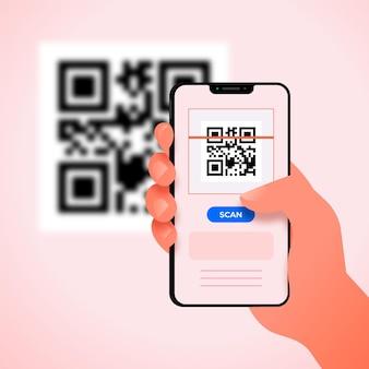 Escaneo de código qr en teléfonos inteligentes