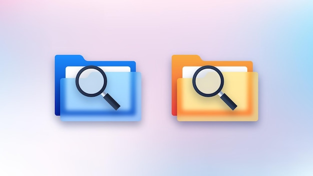 Escaneo de los iconos de la carpeta de archivos