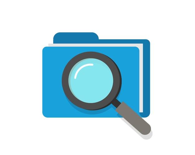 Escaneo o inspección de documentos de carpetas de archivos