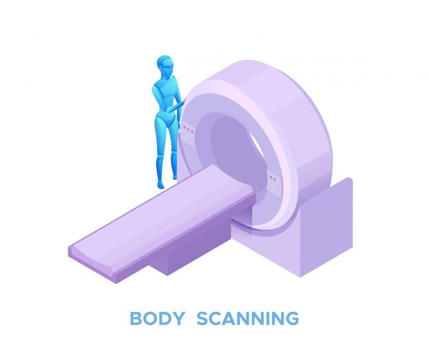 Escaneo de resonancia magnética en el sistema de salud