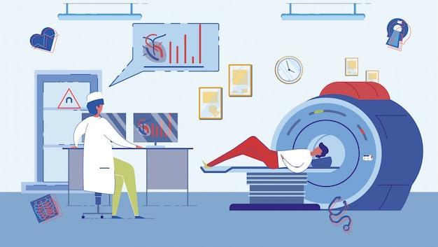 Escáner ct o gabinete de resonancia magnética.