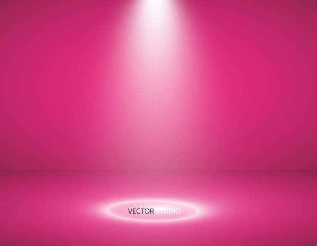 Escaparate de productos de color rosa vacío. fondo de sala de estudio. se utiliza como fondo para mostrar su producto.