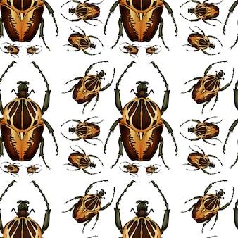 Escarabajo bug patrón sin costuras