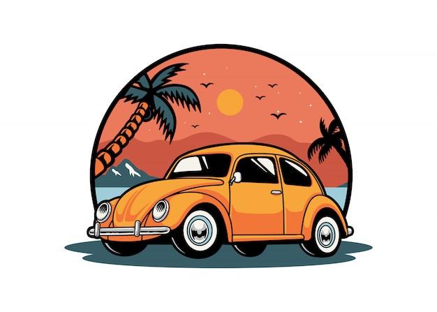 Escarabajo coche verano