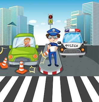 Escena con autos en la carretera