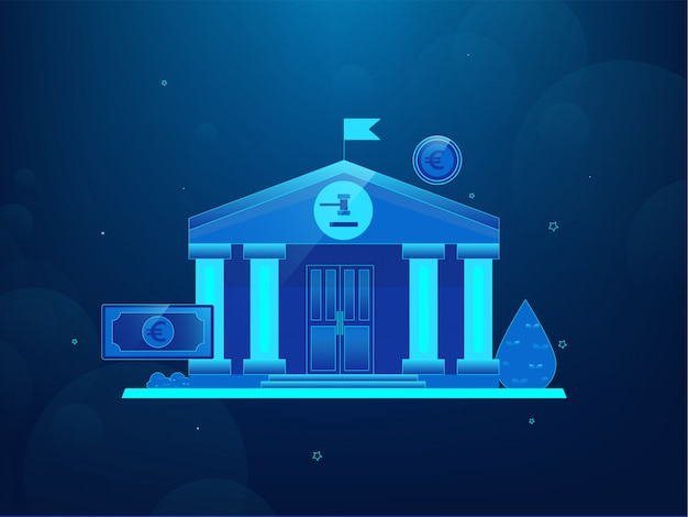 Escena de banca tecnológica