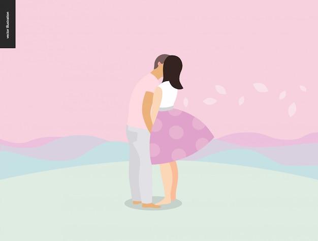 Escena de beso