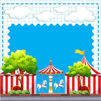 Escena del circo durante el día.