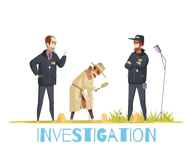 Escena de la composición del crimen