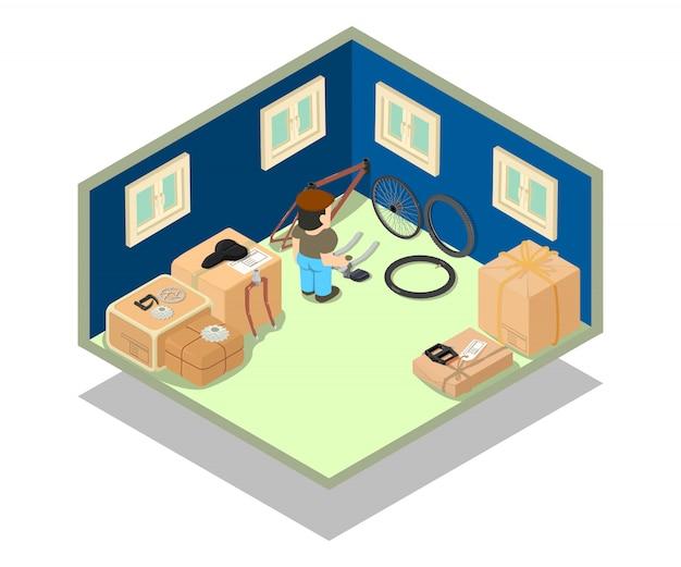 Escena del concepto de almacén