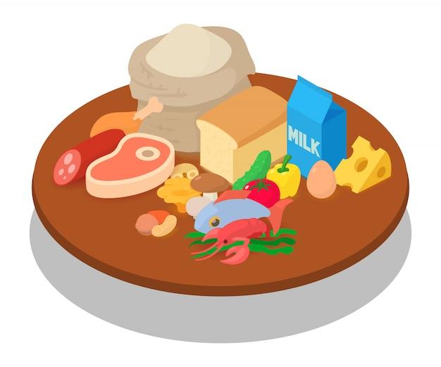 Escena del concepto de comer