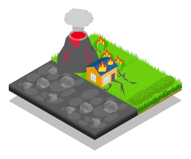 Escena del concepto de desastre natural