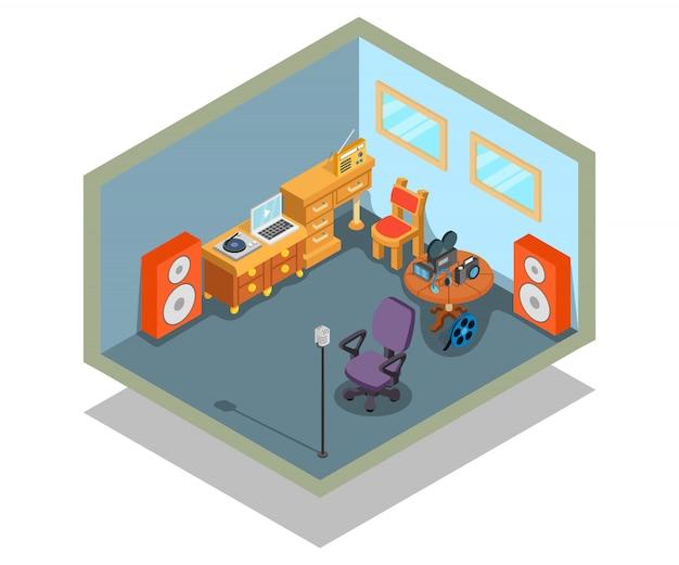 Escena de concepto de edición de video