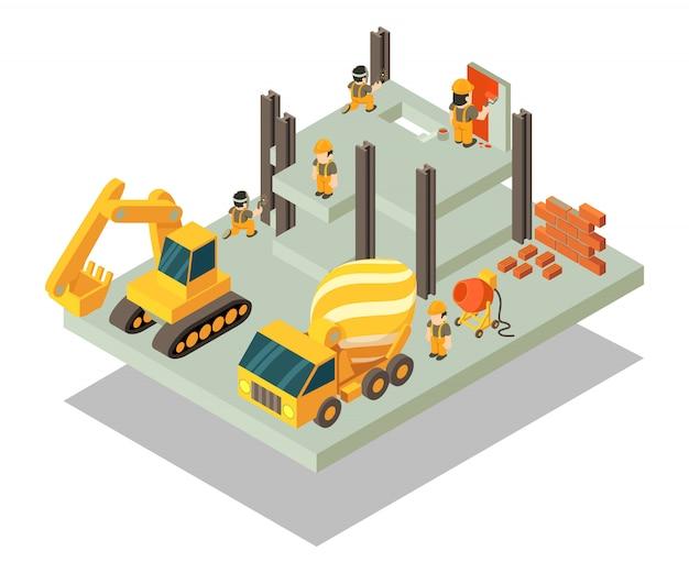 Escena del concepto de edificio