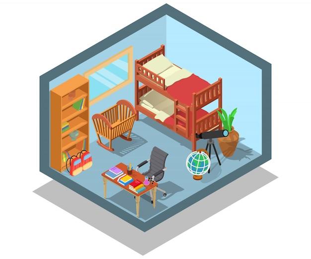 Escena de concepto de habitación infantil.