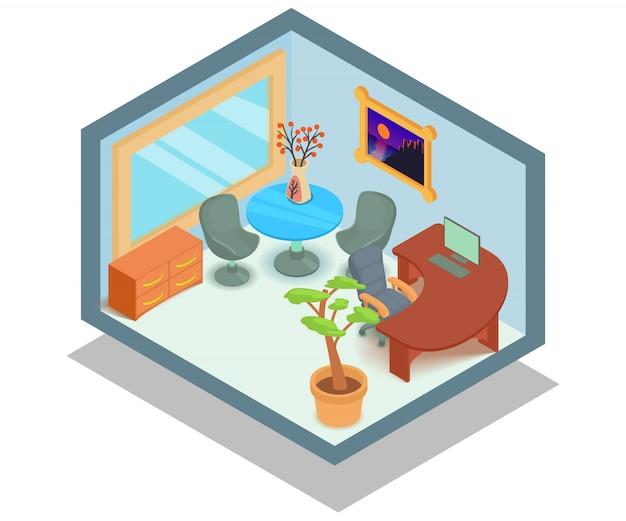 Escena del concepto de oficina
