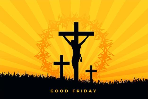 Escena de la crucifixión de jesucristo viernes santo