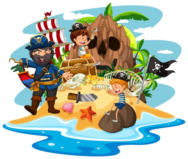 Ninos piratas fotos y vectores gratis - Islas con ninos ...