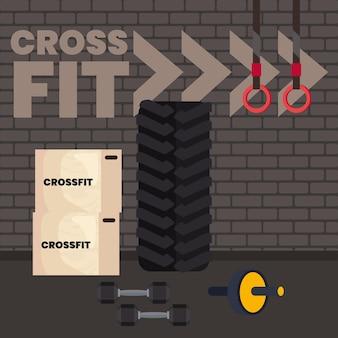 Escena deportiva crossfit