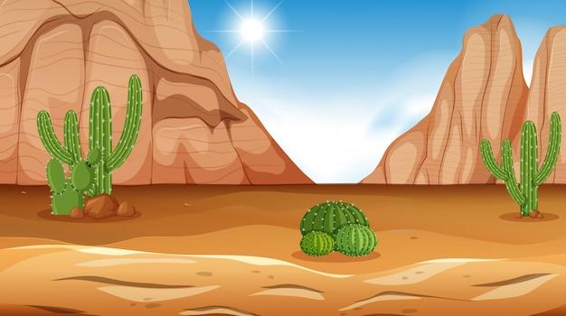 Una escena del desierto durante el día.