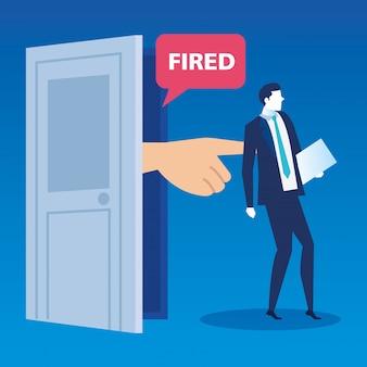 Escena de despedido del empresario avatar personaje