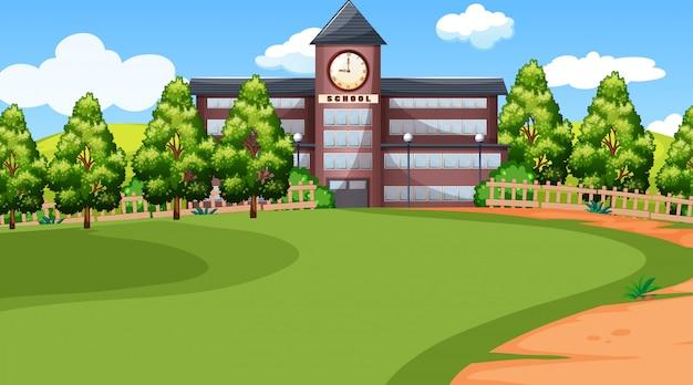 Una escena de la escuela