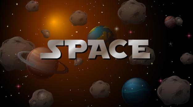 Una escena espacial