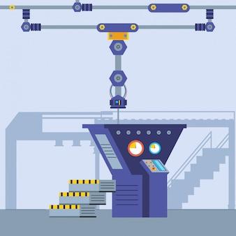 Escena de la fábrica tecnificada