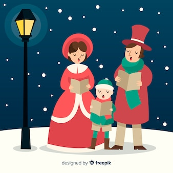 Escena familiar navideña