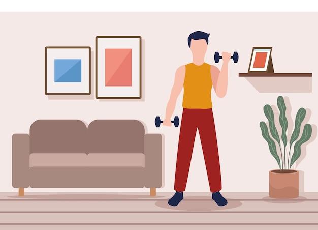 Escena de fitness hombre
