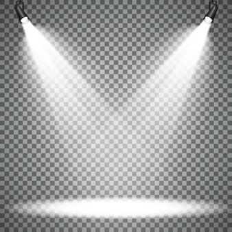Escena de focos con efectos de luces