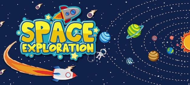 Escena de fondo para la exploración espacial con planetas en el sistema solar