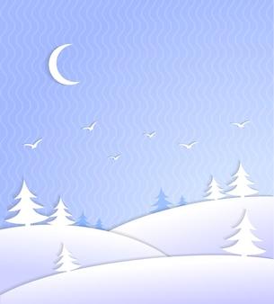 Escena de fondo de invierno helada