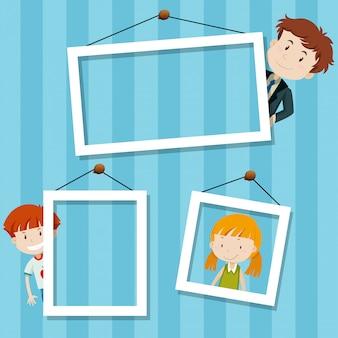 Escena de fondo de marco familiar