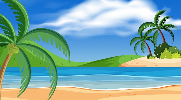 Escena de fondo de playa hermosa