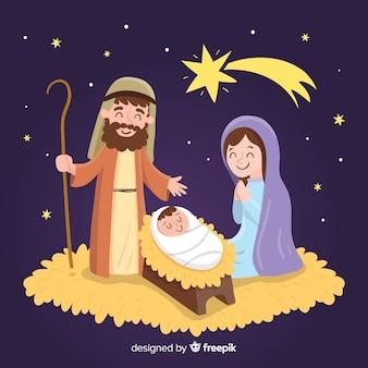 Escena natividad adorable